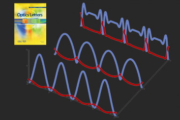 Evolution of the temporal intensity profiles of orthogonally polarized pump and signal waves as a function of propagation distance